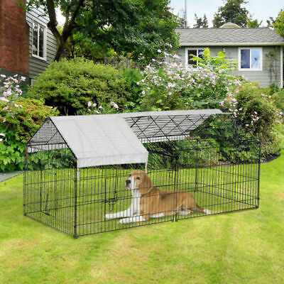 $45.68 • Buy Outdoor 87  Large Dog Kennel Crate Pet Enclosure Playpen Run Cage House W/Cover