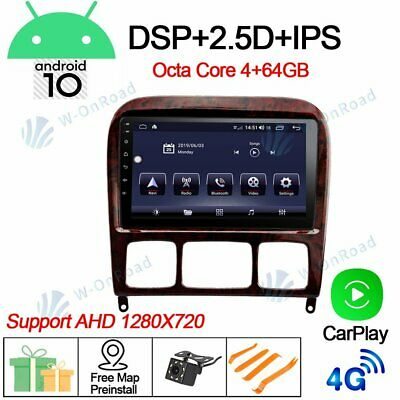 $398 • Buy 9''4+64 Android 10.0 Car GPS Radio Stereo For Benz W220 W215 S280 S320 S350 S400