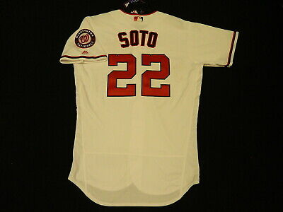 $140 • Buy Authentic Juan Soto Nationals 2019 Limited Edition White FLEX BASE Jersey 48