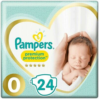 Pampers Premium Protect Micro Size 0 Newborn Nappies Pack Size 24  • 8.99£