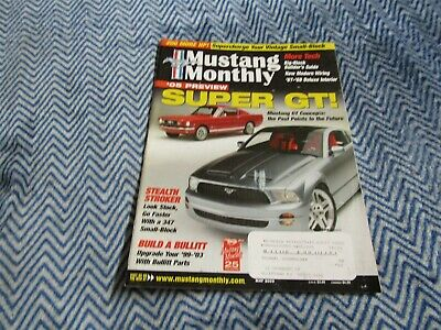 Mustang Monthly Magazine May 2003 Mustang Gt Concepts Super Gt 05 Future Preview • 3.91£