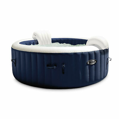 $799.99 • Buy Intex PureSpa Plus 6 Person Portable Inflatable Hot Tub Bubble Jet Spa, Navy