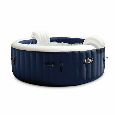 $699.99 • Buy Intex PureSpa Plus 4 Person Portable Inflatable Hot Tub Bubble Jet Spa, Navy