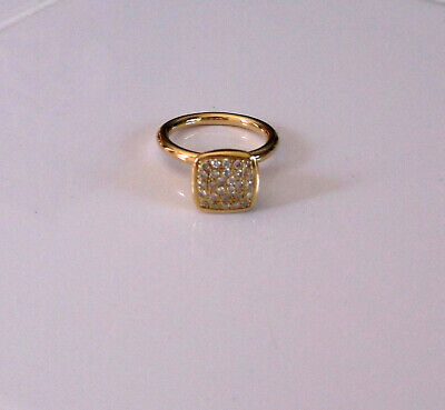 $359 • Buy 18k Yellow Gold Pave Diamond Ring  Size 6