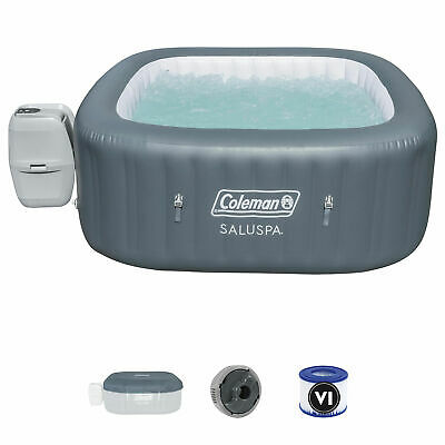$874.99 • Buy Coleman SaluSpa 4 Person Square Portable Inflatable Outdoor Hot Tub Spa, Gray