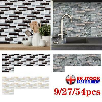 Mosaic Sticker Kitchen Tile Stickers Bathroom Self-adhesive Wall Decor Home DIY • 6.89£