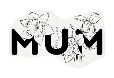 £4.99 • Buy Crafter's Companion Papercraft Photopolymer Floral Word Crafting Stamp - Mum
