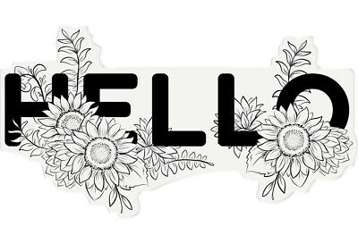 £4.99 • Buy Crafter's Companion Papercraft Photopolymer Floral Word Crafting Stamp - Hello