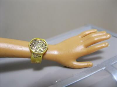 $4.99 • Buy 2006 Barbie MY SCENE MADISON BLING Doll Clothes Access: GOLD Watch Cuff Jewelry