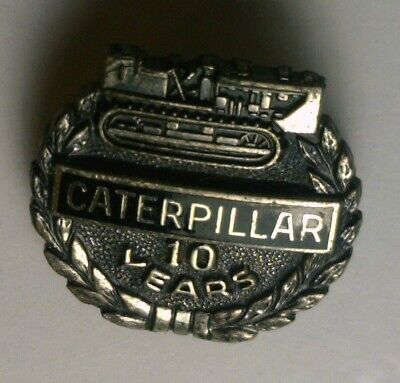 $8.95 • Buy Vintage Caterpillar Sterling Silver 10 Year Service Pin By Morgan's