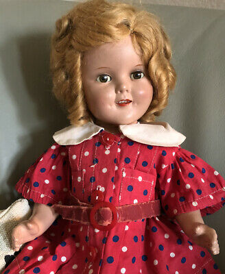 $90 • Buy SHIRLEY TEMPLE COMPOSITION DOLL  Make Up Doll! TAG DRESS MOLLY'ES + ONSIE