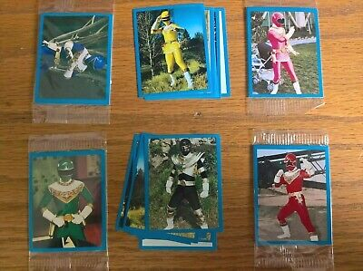 Kelloggs Cereal Trade Cards: Power Rangers Zeo Stickers Full Set Of 36 A1-F6 • 4.99£