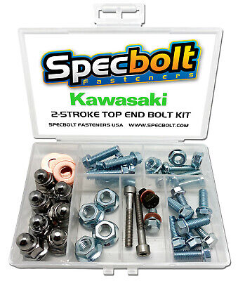 $31.97 • Buy Kawasaki KX125 Top End Engine Bolt Kit KX 125 (Zinc)