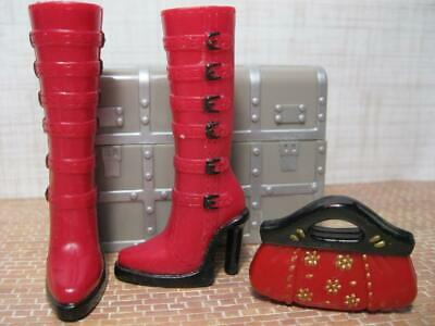 $9.99 • Buy Barbie MY SCENE CHELSEA Doll Clothes: MATCHING RED & Black Shoe BOOTS/CLUTCH SET