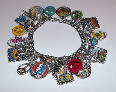 $32.99 • Buy Grateful Dead Jerry Garcia Charm Bracelet Hand Crafted Glass Dome