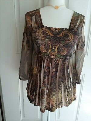 $12.55 • Buy One World Live And Let Live SZ S BLOUSE TOP