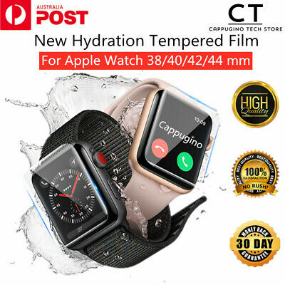 AU4.58 • Buy For Apple Watch Series 1/2/3/4/5 38/40/42/44mm IWatch Full Screen Protector Film