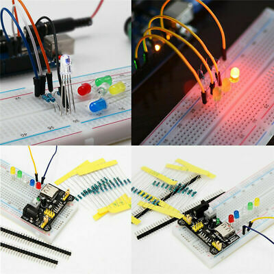 Electronic Component Starter Kit Wires Breadboard LED Buzzer Resistor Transistor • 11.27£