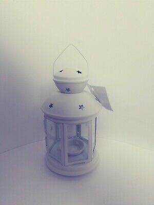 $18 • Buy Ikea Rotera White Metal Tealight 8 H Lantern With Best Jute Pouch 10  X 8  New
