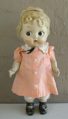 $15.45 • Buy 1930's All Composition Doll Side Glancing Eyes 15  Tall