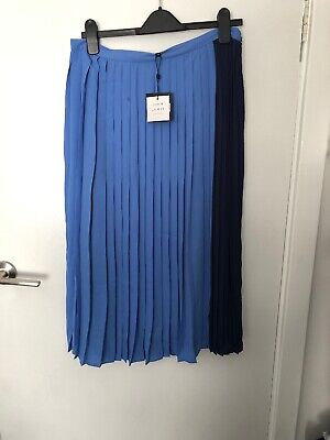 AU50 • Buy John Lewis And Partners Pleated Blue Midi Skirt High Waisted Size 14 $144.99 CN