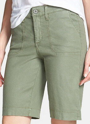 $29.99 • Buy Not Your Daughters Jeans NYDJ Tummy Tuck Fennel Linen Blend Shorts Size 8P