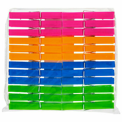 24 Jumbo Plastic Clothes Pegs Clips Washing Line Airer Rotary Dry Laundry Garden • 2.79£