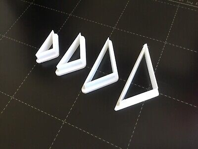 Set Of 4 Polymer Clay Cutters - Jewellery Making Triangle Right Sided • 5.50£
