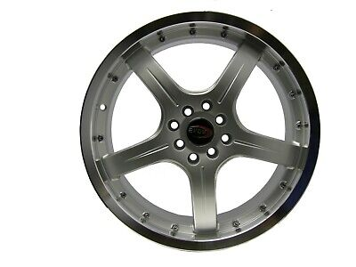 AU501.87 • Buy 18  Evoke F8 Style Alloy Wheels 4 Lug Pcd (100/114.3) Silver  Set Of 4 Rim