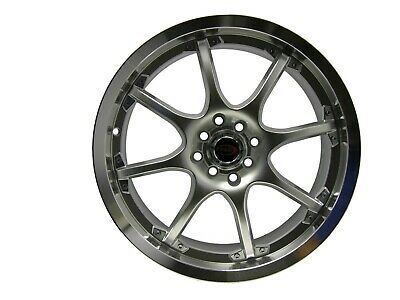 AU501.87 • Buy 18  Evoke C8 Style Alloy Wheels 4 Lug Bolt Pattern(100/114.3) Silver Set 4 Rims