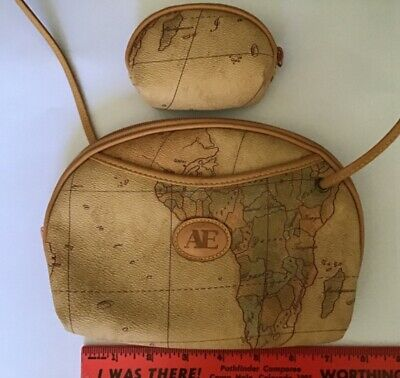 $3 • Buy Ae Vintage Map Design Crossbody Bag With Corresponding Map Coin Purse
