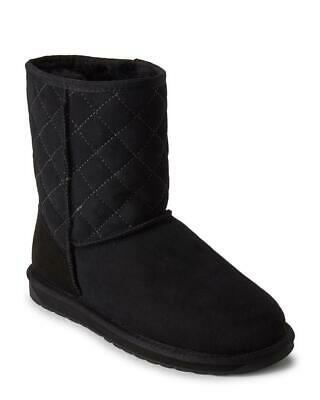$49.99 • Buy New In Box - $160 EMU Stinger Lo Black Quilted Shearling-Lined Suede Boots 10