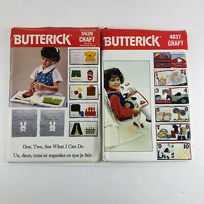 $9.99 • Buy UNCUT Butterick Craft Book Patterns #4837 #5626 Counting Farm What Can I Do Vtg