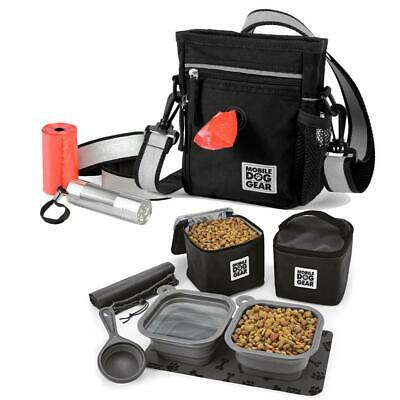 $ CDN74.14 • Buy Day/Night Walking Bag (Black) And Dine Away Set Mobile Dog Gear's Pet Luggage Tr