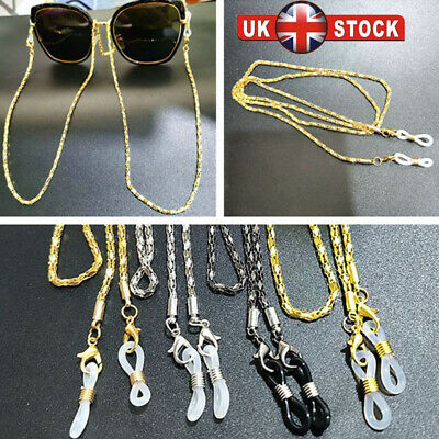 Glasses Neck Cord Strap String Lanyard Chain Sunglasses Reading Spectacles Metal • 2.99£
