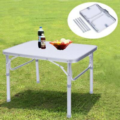 Aluminium Portable Height Adjustable Folding Table Camping Outdoor Picnic Party • 17.99£