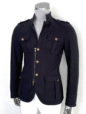 $199 • Buy CWA Navy Wool Slim Fit Jacket - Military Style Sz IT50 - US40 Made In Italy