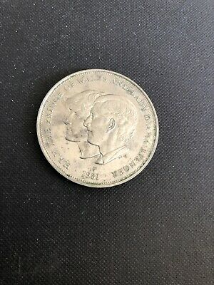 1981 HRH The Prince Of Wales And Lady Diana Spencer Silver Coin  ❤️🌈 • 7.99£