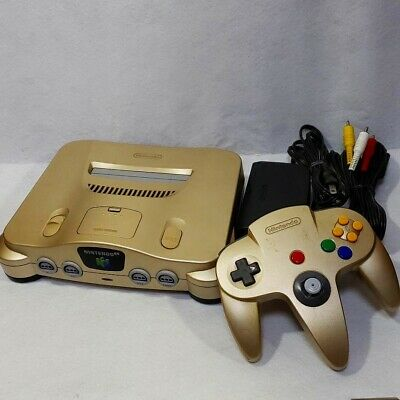 $ CDN148.60 • Buy NINTENDO 64 Gold Console Set N64 Works Controller Cable Japanese Version