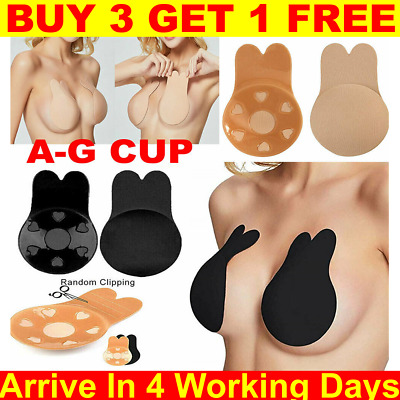 Women Bra Strapless Backless Silicone Stick On Push Up Invisible Adhesive Bra • 3.89£