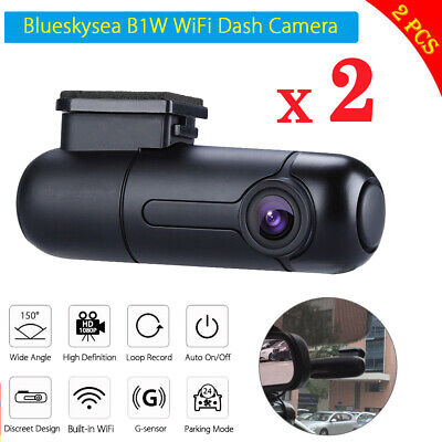 AU137.81 • Buy 2x Blueskysea B1W 1080P Mini 360° WiFi Dash Camera Car DVR Loop Recording IMX323