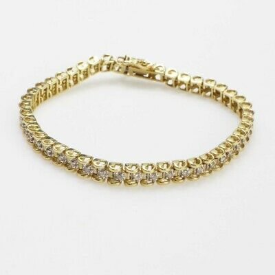 $800 • Buy 14kt Gold 13.56g Bracelet With Diamond Accents