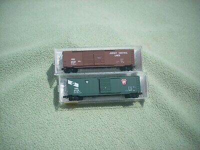$12 • Buy N Scale Micro-Trains 50' Box Car JERSEY CENTRAL #25039 & PENNSYLVANIA #47172