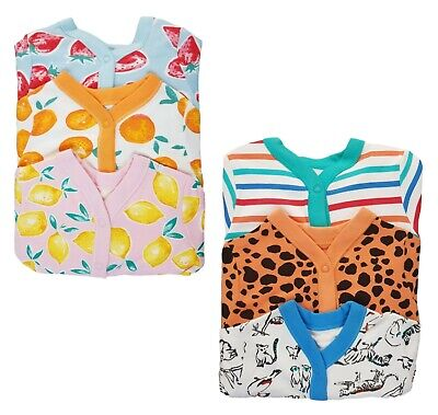 EX-STORE Baby Boys Girls Babygrow Sleepsuits  3 Pack 100% Cotton Playsuit NEW  • 8.50£