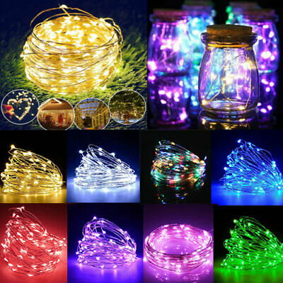 £5.19 • Buy 20/50/100 LED Battery Micro Rice Wire Copper Fairy String Lights Party Decor UK