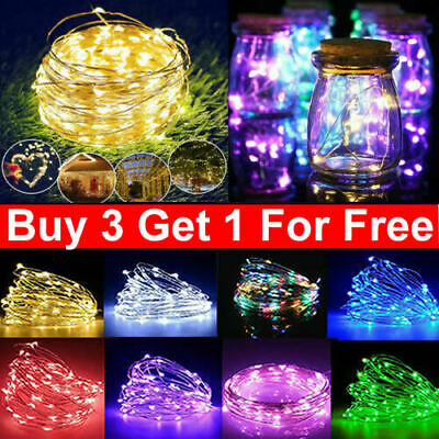 LED String Fairy Lights Battery Home Twinkle Decor For Party,Christmas  Garden • 5.99£
