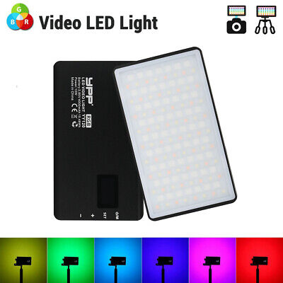 YY-120 Mini RGB LED Video Light 2500K-8500K Fill Light Lamp For Camera Camcorder • 42.99£