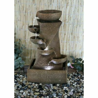 £52.95 • Buy Indoor/ Outdoor Cascading LED Water Fountain Garden Feature Statue With Lights