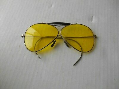 $79.99 • Buy Vintage Willson Yellow Lens Shooting Safety Sun Glasses Aviator W/ Case