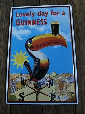 £8.99 • Buy Guinness  Lovely Day For A Guinness    Embossed Toucan Tin Sign Man Cave